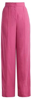 Roksanda Lapari High Rise Twill Trousers - Womens - Fuchsia