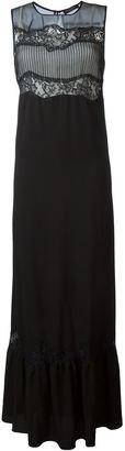 Twin-Set lace panel sleeveless maxi dress $261.80 thestylecure.com