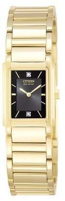 Citizen Women's EW9252-55F Eco Drive Diamond Gold-Tone Watch