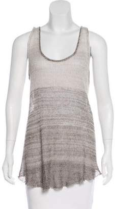 Enza Costa Knit Linen Top