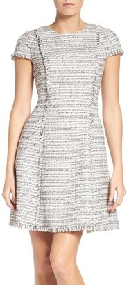 Women's Eliza J Tweed Fit & Flare Dress $148 thestylecure.com