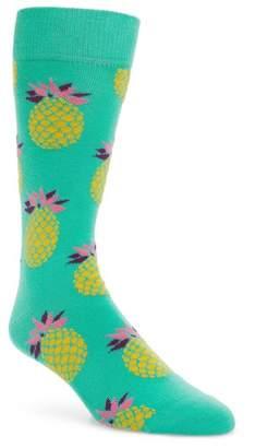 Happy Socks Pineapple Pattern Socks