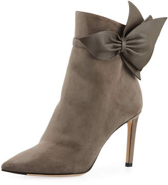 Jimmy Choo Kassidy Suede Booties with Bow