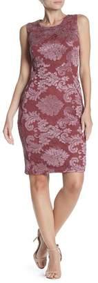 Marina Sleeveless Lace Slim Dress