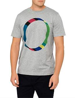 Paul Smith Mens Ss Reg Fit Tshirt 3D Circle