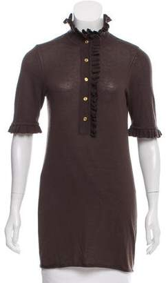 Tory Burch Short Sleeve Cashmere Top