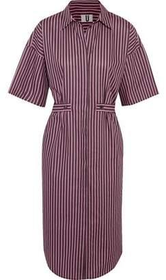 Topshop Tiller Oversized Striped Cotton Shirt Dress