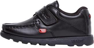 Kickers Infant Boys Fragma Strap Leather Shoes Black