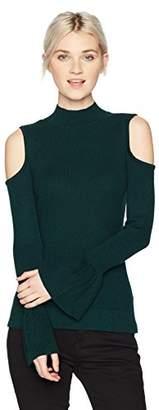 Amy Byer A. Byer Junior's Long Sleeve Cold Shoulder Sweater (Junior's)