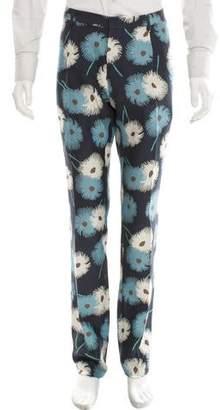 Valentino Printed Silk Pants w/ Tags