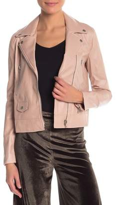 re:named apparel Faux Leather Moto Jacket