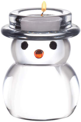 Mikasa Celebrations By Glass Snowman Tealight Holder