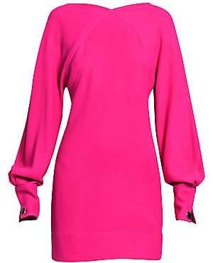 Victoria Beckham Women's Balloon-Sleeve Open Back Mini Dress