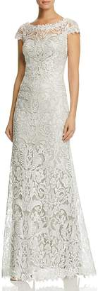 Tadashi Shoji Petites Embroidered Lace Gown $548 thestylecure.com
