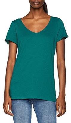 Esprit Women's 048ee1k005 T-Shirt, (Dark Teal Green 375), X-Small