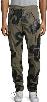 Moschino Handpainted Cargo Pants