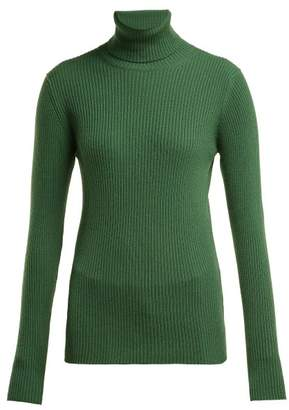 Hillier Bartley Roll Neck Ribbed Cashmere Sweater - Womens - Green