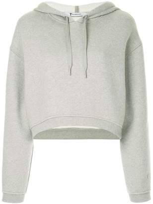 Alexander Wang cropped dense fleece hoodie