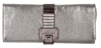 Michael Kors Metallic Leather Clutch