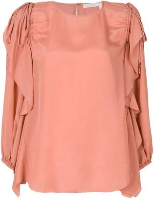 See by Chloe frill trimmed blouse