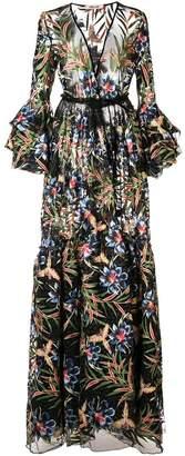 Diane von Furstenberg floral sheer maxi dress