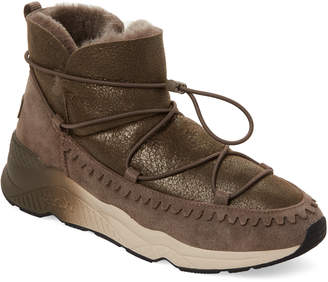 Ash Bronze Mitshouko Real Fur-Lined Boots