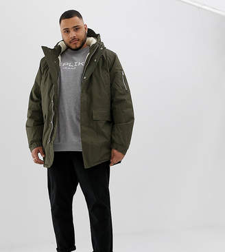 Bellfield PLUS Fleece Lined Parka With Hood