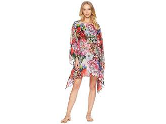 Mary Katrantzou Beach Poncho Printed Georgette Cover-Up
