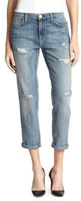 Current/Elliott The Fling Boyfriend Distressed Slim Crop Jeans