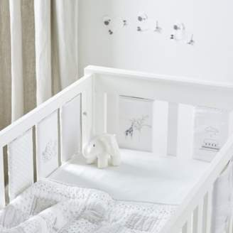 The White Company Noahs Ark Cot Bumper Sleeves Set of 8, Natural, One Size