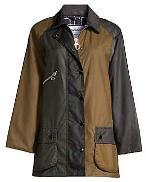Barbour Women's x Alexa Chung Oversized Patch Jacket