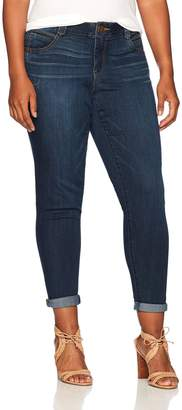 Democracy Women's Plus Size Ab Solution Ankle Skimmer Jean