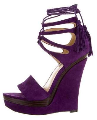 Rachel Zoe Suede Wedge Sandals
