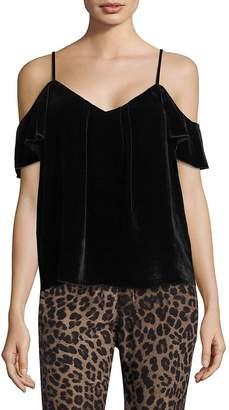 Joie Women's Adorlee Cold-Shoulder Velvet Top