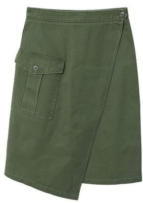 MANGO Pocket wrap skirt