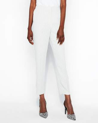 Express High Waisted Pinstripe Trouser Pant