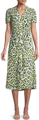 Diane von Furstenberg Leopard Dress Midi Dress