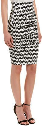 Nicole Miller Artelier Linen-Blend Skirt