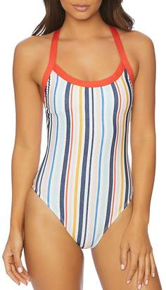 Splendid x Gray Malin Striped One Piece Swimsuit