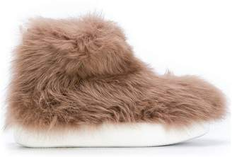 Peter Non allover faux fur boots