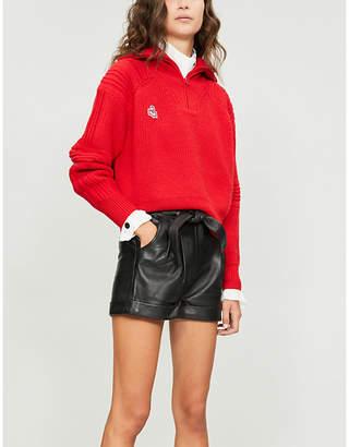 Maje Ibord leather shorts