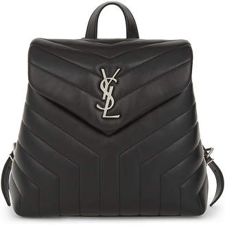 Saint Laurent Loulou quilted leather backpack $1,520 thestylecure.com