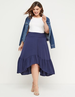 2ed36b08a407 Plus Size High Low Skirt - ShopStyle