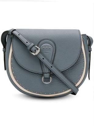 Fendi stitched saddle bag