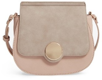 Sole Society Rowen Faux Leather Crossbody Bag - Pink $49.95 thestylecure.com
