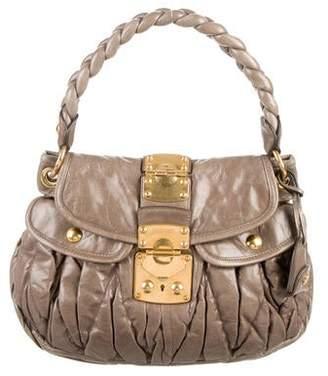 Miu Miu Matelassé Pleated Coffer Bag