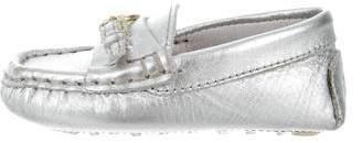 Ralph Lauren Girls' Leather Metallic Loafers