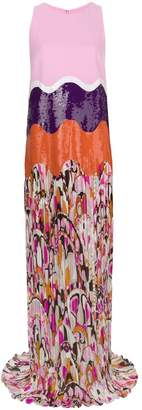 Emilio Pucci sequin printed and pleated gown