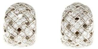 Tiffany & Co. Platinum & Diamond Vannerie Clip-On Earrings