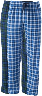 Hanes Big & Tall 2-pk. Plaid Flannel Lounge Pants